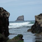 Stunning view of Bawden rock from Trevaunance Cove