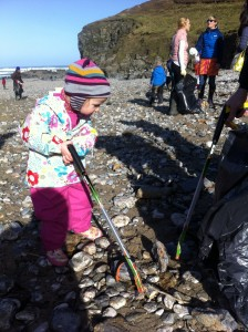 Everyone Pitching in for Porthtowan Beach Clean